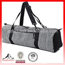 Sacos da esteira da ioga do bolso da carga do fecho de correr, algodão cinzento