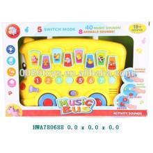 Juguete del bebé, juguete musical del coche de la historieta de B / O, juguete educativo