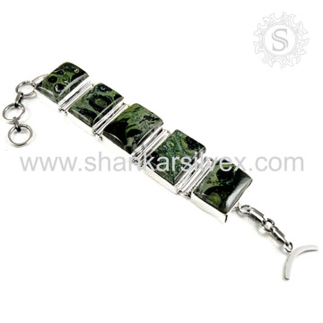 Glittering star galaxy gemstone silver bracelet 925 sterling silver bracelets handmade jewelry manufacturer