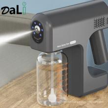 New Arrival Rechargeable Battery Fogger Machine Portable Sprayer Gun Wireless Nano Blue Ray Atomizer