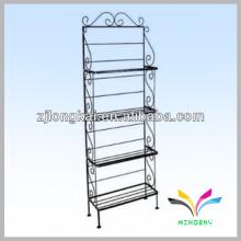 4 niveles tienda de supermercado alambre escalera de metal plegable soporte de estante de metal