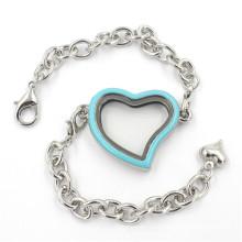 Мода Ювелирные изделия Heart Shaped Alloy Glass Locket Браслет