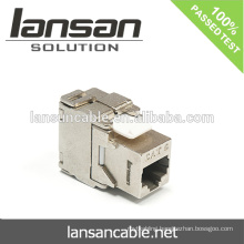 Cat6 FTP Keystone Jack forn RJ45 Cable, Shielded Silver