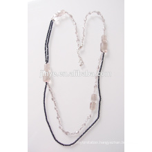 Fashion Long Bling Crystal Beaded Necklace for Sweater