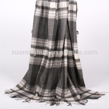 manta de lana de tartán para el hogar
