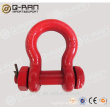 factory price US type drop forged round pin anchor shackle bow shackle 213