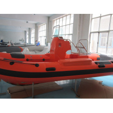 Aufblasbares Rettungsrippenboot Heavy Orange Fiberglas 5.2m