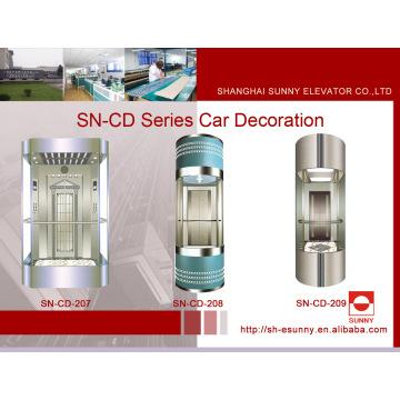 Beobachtung Aufzug Kabine mit Enamel Canopy (SN-CD-207)