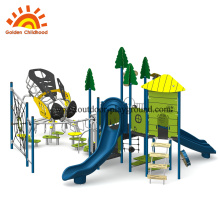 Estrutura equipamentos playground rede de escalada ao ar livre