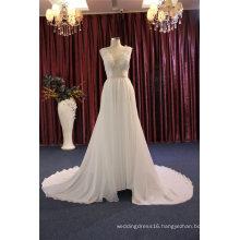 2017 Chiffon A Line Evening Bridal Wedding Dress for Beach