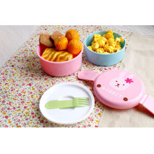 Japanese wholesale round plastic bento lunch box container for kids