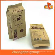 Guangzhou Zhongbao material laminado asséptico lado personalizado sugget kraft saco de papel marrom com impressão