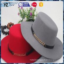 Latest product fine quality flat top women hat 2016