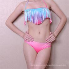 Sexy Regenbogen Quaste Bikini Bademode (SY7605)