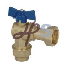 Type d'angle verrouillable laiton compteur d'eau robinet à boisseau sphérique avec union