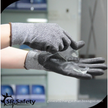 SRSAFETY good quality/glass manufacturing/anti-cut pu gloves