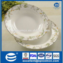 China de la fábrica al por mayor placa de la sopa de la casa elegante nuevo hueso china