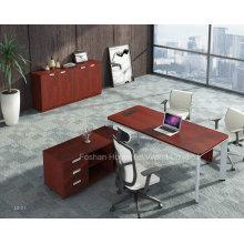 Table de bureau de bureau en bois moderne avec table latérale MFC (HF-YZL001)