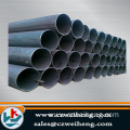 Welded carbon steel round pipe/astm a106 erw black carbon welded steel