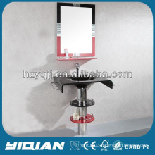 Floor Standing Mirrored Tempered Glass Modern Tempered Glass Washbasin