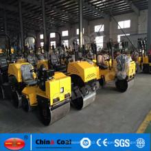 2017 mini paseo hidráulico del carbón de China en el compactador del suelo del rodillo de camino