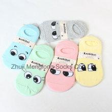 Calcetines de algodón de niña de ojos grandes patrón