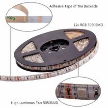 Bande LED Lumières SMD 5050 non-étanche 5M 300leds RVB Flexible LED Cordes avec 44 touches à distance