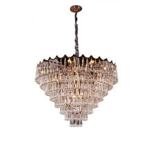 Retractable Luxury Living Room Chandeliers And 12 Glass All Copper Chandelier Led Pendant Light Lamp