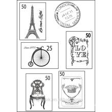 Französisch geben Sie Clear Stamps für Sammelalbum