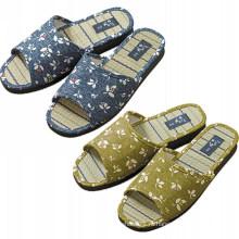 Высокое качество Открытый носок соломы единственной мужской крытый тапочки дом обувь