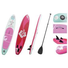 Rosa Blume beliebte aufblasbare Sup Board Stand up Paddle Board Surf Board
