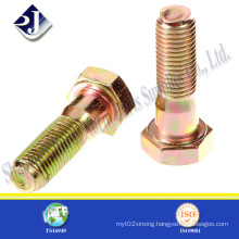 China Supplier Low Price Zinc Finished Hexagonal Bolt