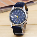 Fashion Three Eyes Leather Quartz Watch