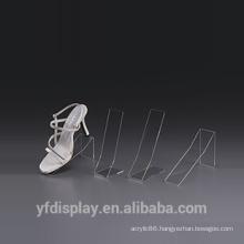 Acrylic/perspex slatwall shoe shelf with price holder