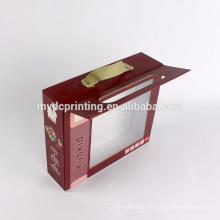 Подгонянная коробка картона бумажная игрушка с окном