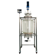 High Efficiency 80L Filter Chemical Equipment Lab Crystallization Glass Reactor