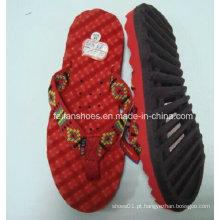 Chinelos de chinelo EVA mais quentes encomendar estoque de sandálias (FF329-3)