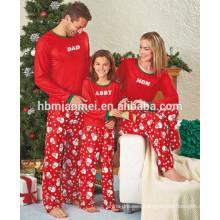 2016 Christmas print cotton pajamas 2pcs set christmas pajamas family