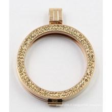 Bijoux de pendentif de médaillon de mode de vente chaude de la mode 316L avec des pierres de pavé