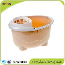 Squeeze Plastic Mop Wringer Bucket with Wheels