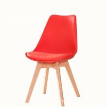Chaise de salle à manger conférence tulipe créative nordique en bois massif