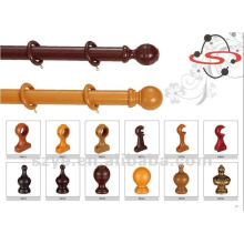 wooden Curtain pipe with holder