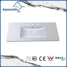 Polymarble Rectangular White Cabinet Wash Basin Acb1206