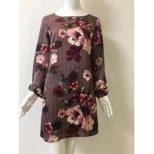 Satin Chiffon Printed Dress