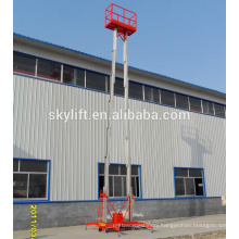 TWO-mast electric hydraulic lift table aerial working platform/telescopic ladder electrical