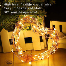 Wasserdichte warme weiße Mini Fairy LED Copper Lights