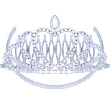 Birthday Party Plastic Silver Comb Tiara