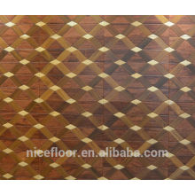 Layered solid wood parquet flooring N24 TEAK MAPLE PARQUET FLOOR