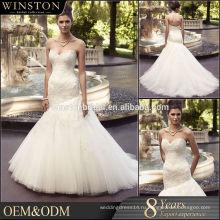 Высокое качество на заказ свадебные платья с перьями