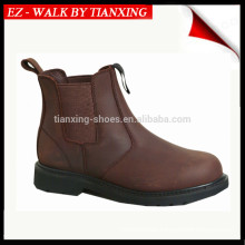 Sided Elastic Safety shoes with genuine leather and steel toe